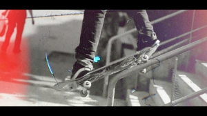Film Look Effect Overlays on a Skateboard Video